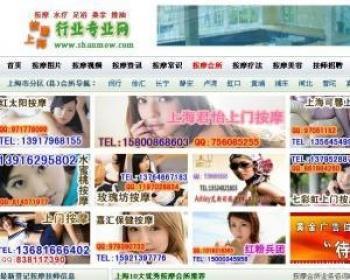 网站建设 上海按摩网整站源码