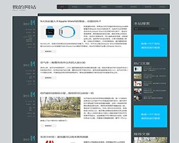 帝国CMS黑白个人博客新闻文章资讯网站模板自适应手机移动设备